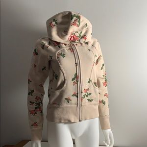Rare Lululemon Scuba with Roses and Polka Dots
